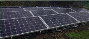 Solar PV Ground level installation Lancashire